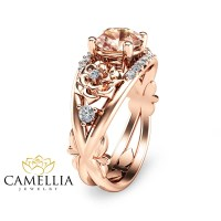 14K Rose Gold Engagement Ring-Rose Gold by CamelliaJewelry ...