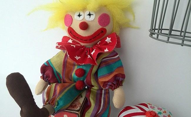 Good Clown Doll сircus Textile Handmade Doll By Handmadeshopua