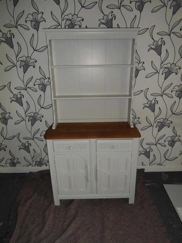 Oak Priory Welsh Dresser Painted In Pavilion Gray Haute Juice