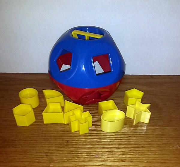 Vintage Tupperware Shape Ball Toy Atticonthebeach