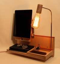 Docking Station charging station organizer nightstand lamp