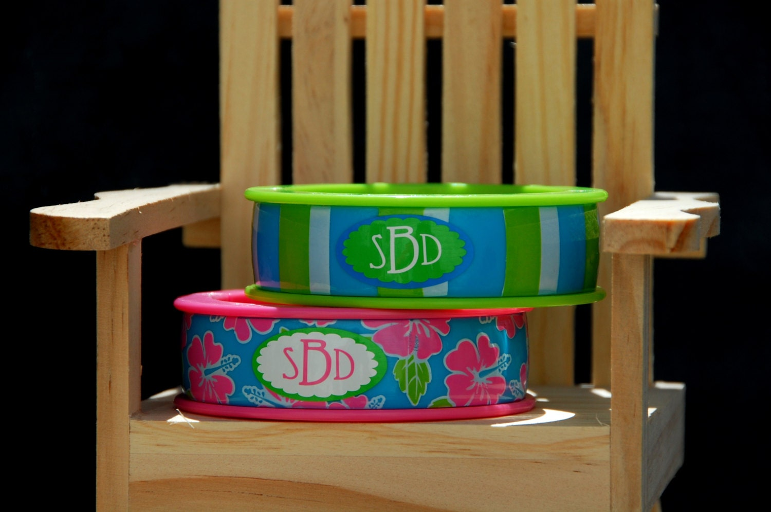 Beach Chair Clips Beach Towel Clips Bangles Monogrammed Set Of By
