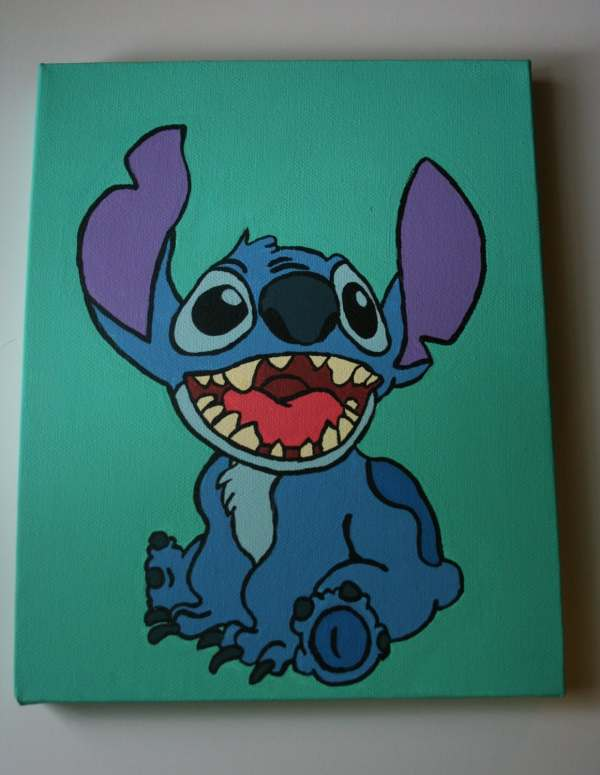Disney Stitch Canvas Painting Easy