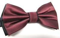 Mens Bow Ties. Burgundy Black Bow Tie. Wedding Bow Ties