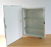 Vintage Metal Recessed Medicine Cabinet F. W. Lawson