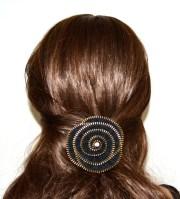 zipper hair clip accessory