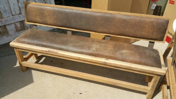 Barn Wood Benches with Backs