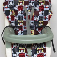 Graco High Chair Cover Replacement Windsor Style Chairs Pad Minnie Mouse Mickey