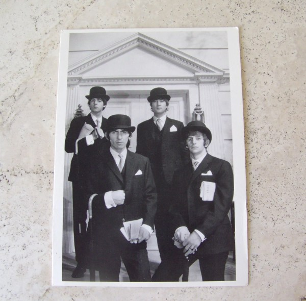 Vintage Beatles Postcard Rock Group