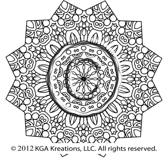 Instant PDF Download Coloring Page Hand Drawn Zentangle Mehndi