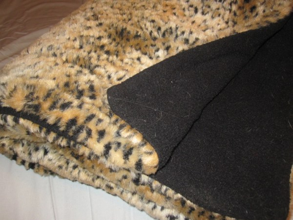 Leopard Faux Fur Throw Blanket