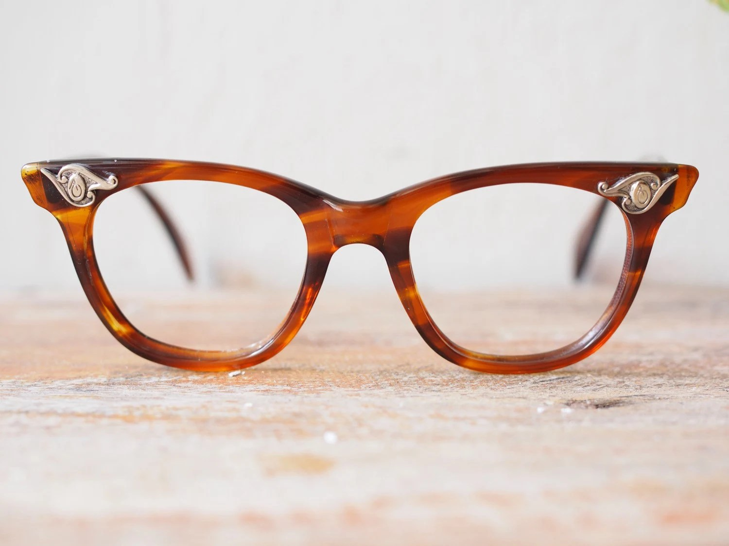 Vintage American Optical Eyeglasses 1950 s Tortoise Shell ...