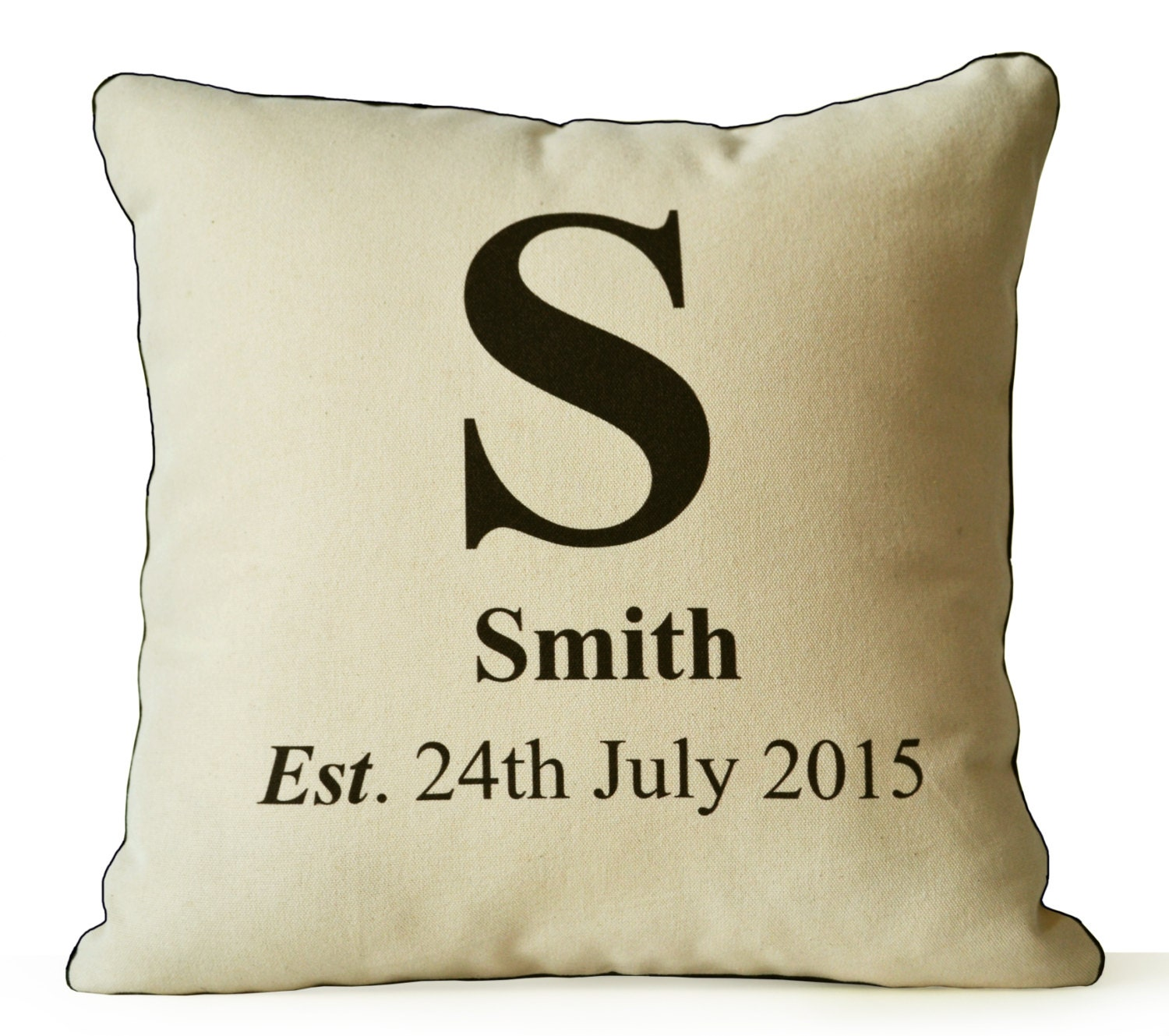 Personalized Pillow Cover Family Name Organic Pillow Case