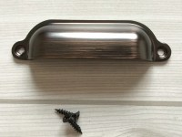 Black Red Dark Oil Bronze Bin Handles Drawer Pull Dresser