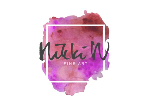 Fine Art Logo Splash Artsy Watercolor
