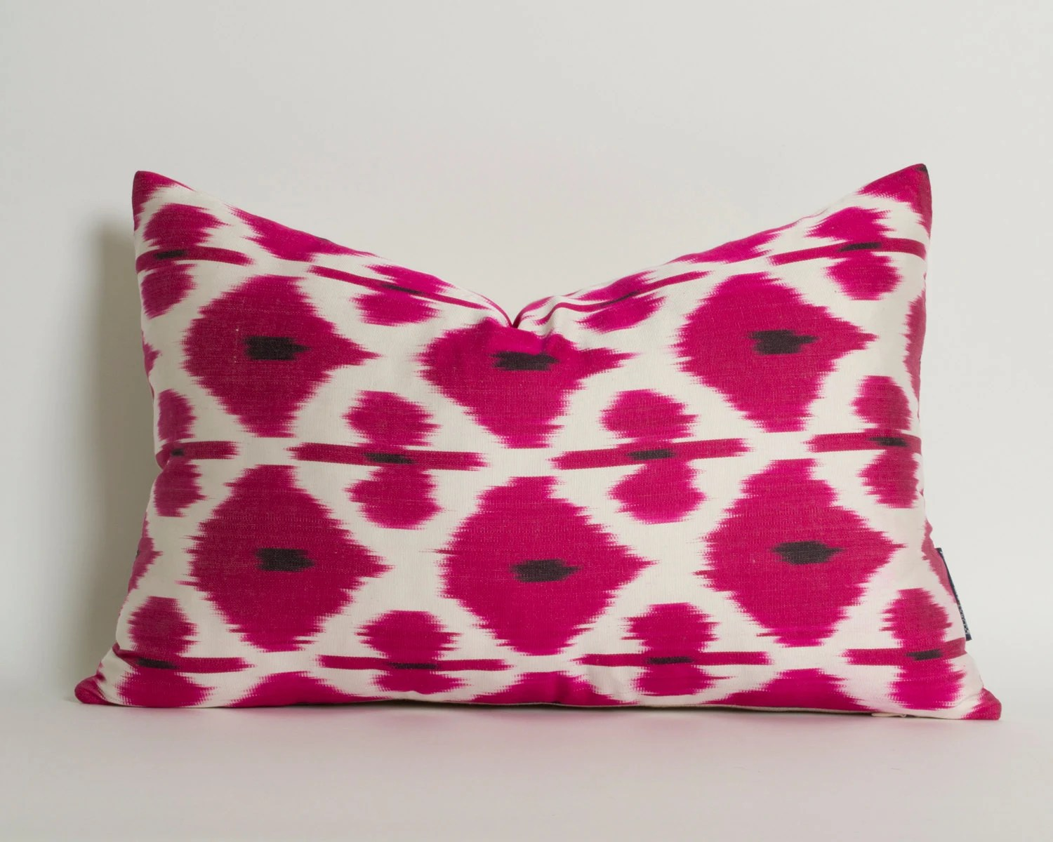 pink throw pillows for sofa spiderman sleeper ikat pillow cover decorative couch by