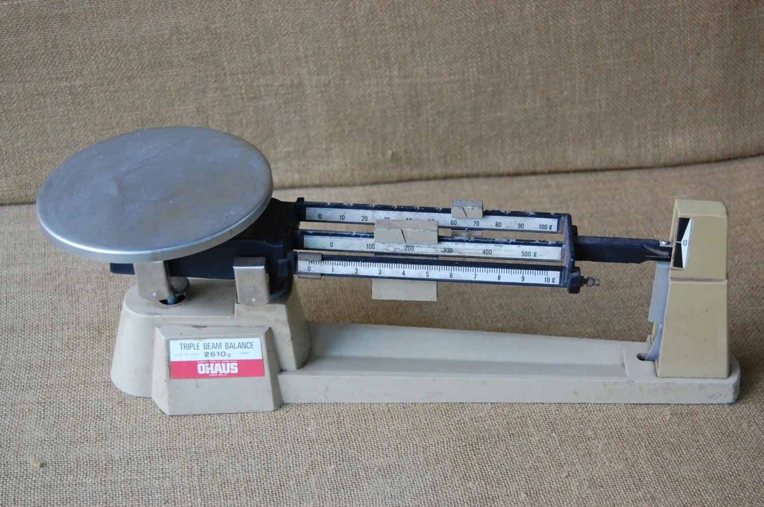 Vintage Ohaus Triple Beam Scale Gold Scale Vintage Lab