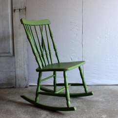 Small Rocking Chairs Chair Picture Frame Vintage Childrens Wooden Rocker Painted