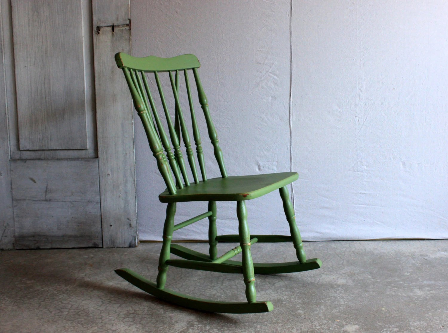 Small Rocking Chair Vintage Childrens Rocking Chair Small Wooden Rocker Painted