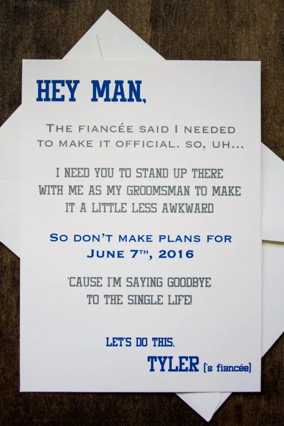 Groomsman Card Invite Will You Be My By ForeveryMomentCo
