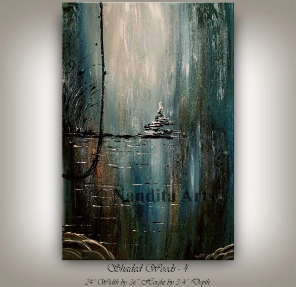 Original Acrylic Landscape Painting Abstract Modern