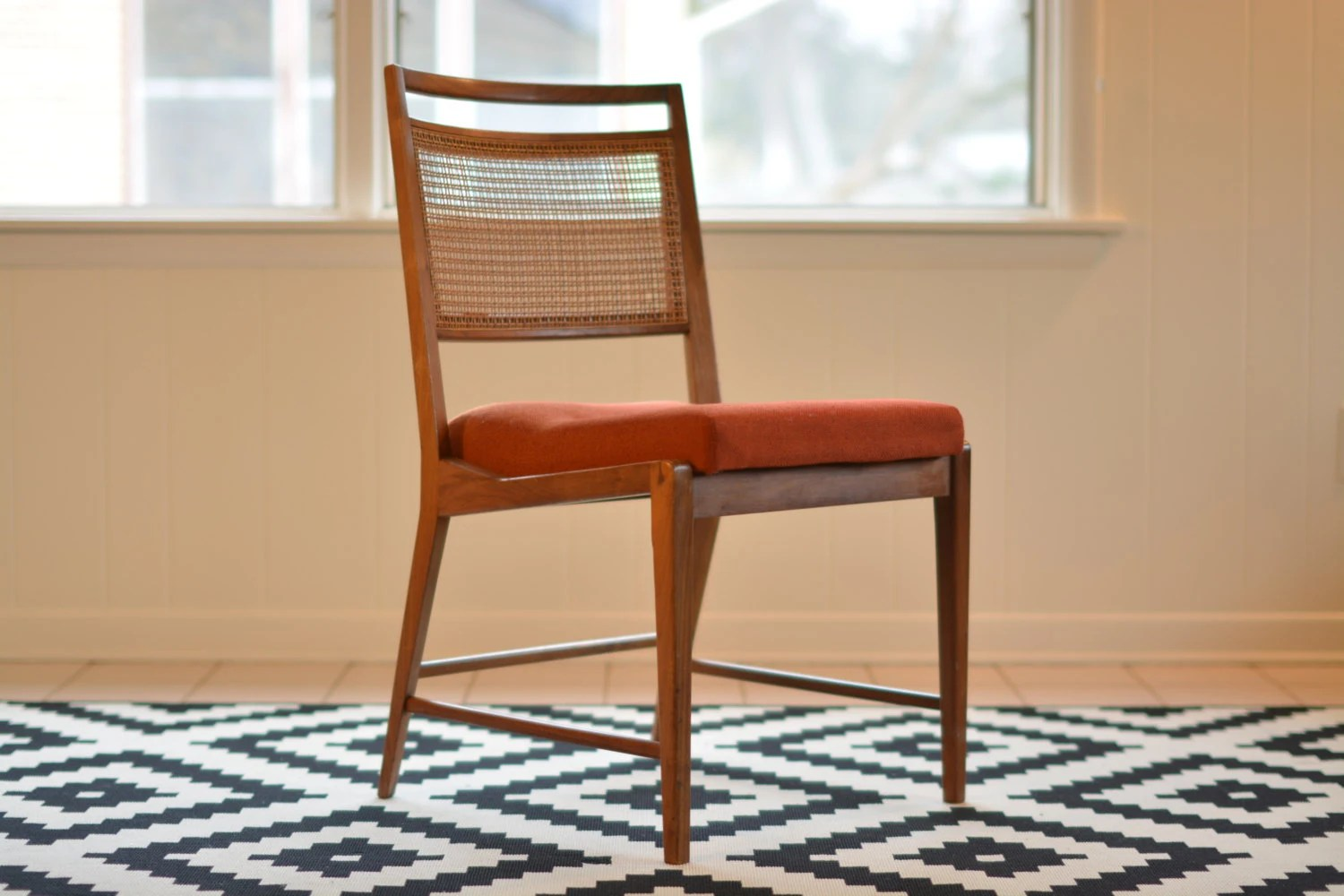 Mid Century Side Chair Mid Century Side Chair Teak With Cane Back