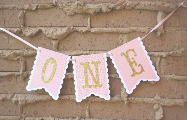 One Year Old High Chair Birthday Banner
