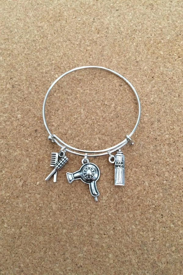 Hair Stylist Charm Bracelet Silver-plated Thecharmingsister