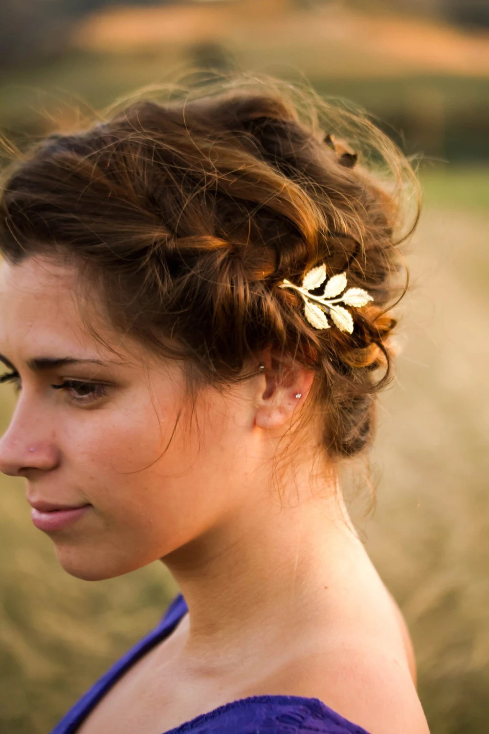 Grecian Leaf Hair Pin Greek Hair Clip Pin Goddess By
