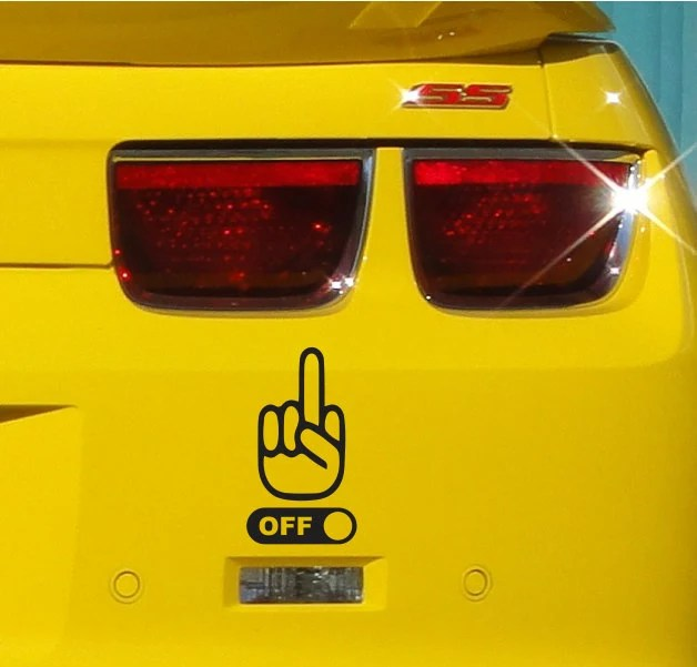 Middle Finger Fuck Off Funny Bumper Sticker by
