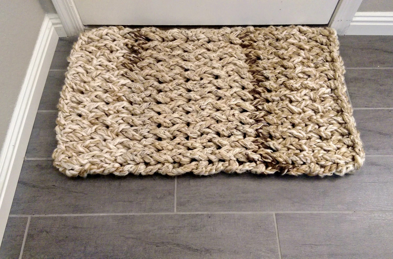 Rustic Arm Knit Rug Kitchen Rugs Bath Mat Door Mat Pet