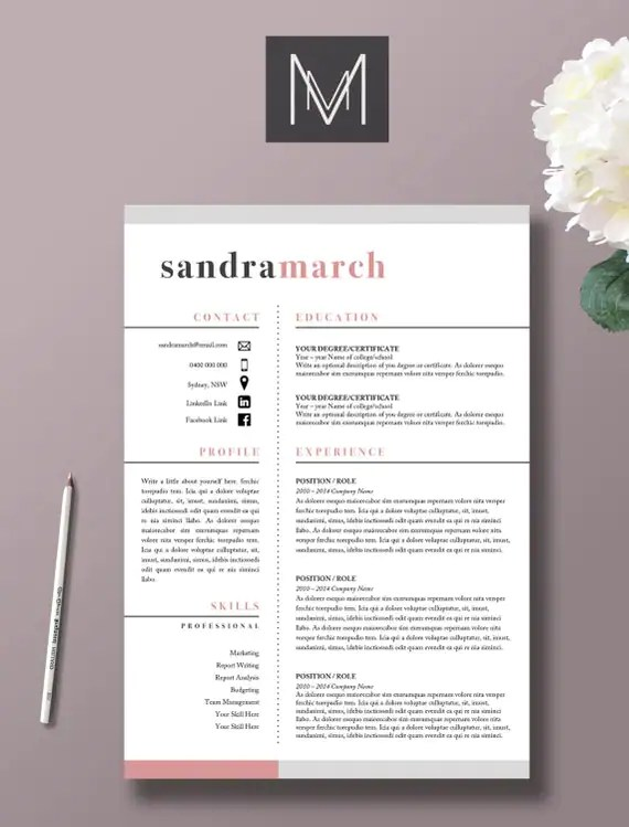 Professional resume modle 2 page CV lettre de motivation