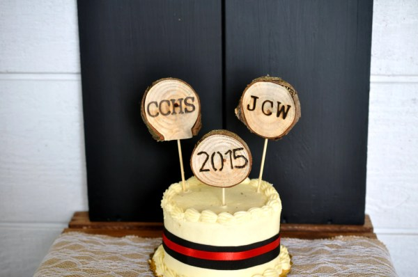 Graduation Cake Toppers Rustic