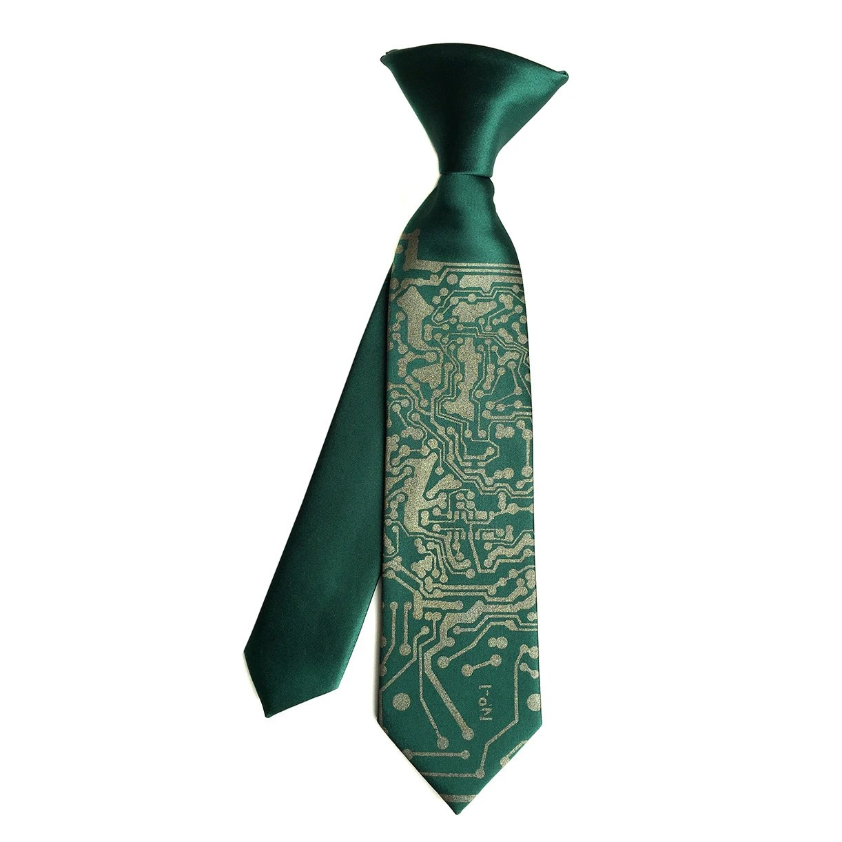 Circuit Board Kids Tie Boys Clipon Necktie Baby Toddler Or Youth