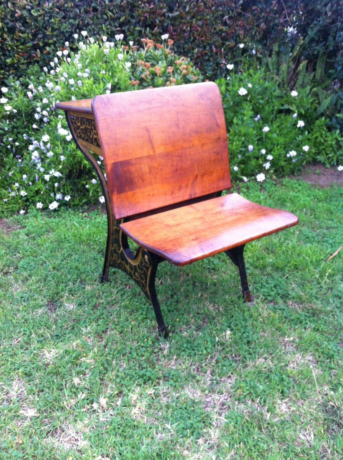 folding chair with desk cover hire west sussex beautiful antique school inkwell