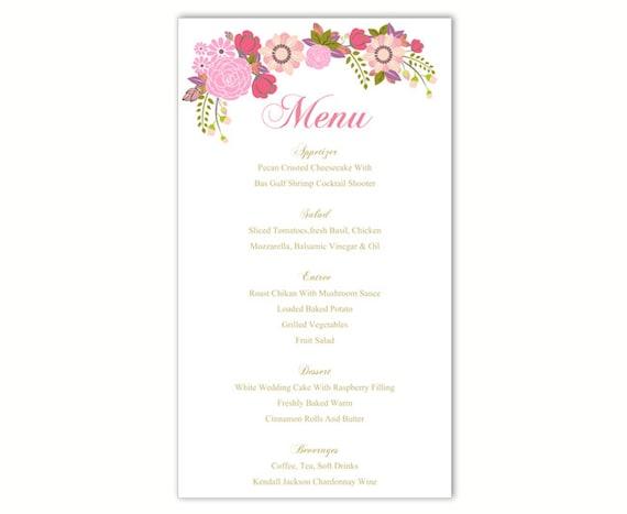 menu card template free