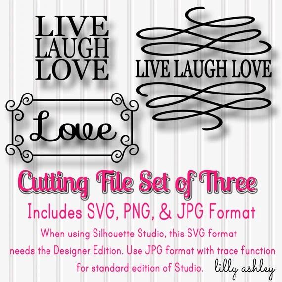Download SVG Files Set of 3 Live Laugh Love-SVG PNG jpg all