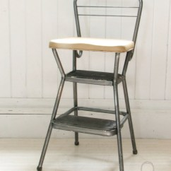 Old Fashioned Kitchen Chair Step Stool Rug Runner 1950s Vintage Cosco With Folding Seat Retro