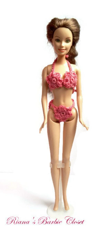 Barbie Bikini con fiori costume da bagno di RianasBarbieCloset