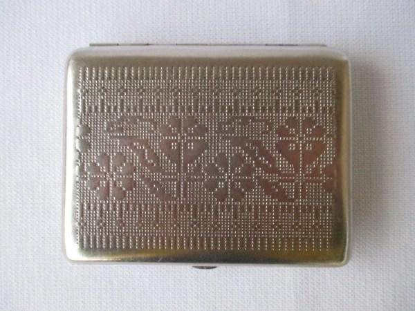 Vintage Metal Cigarette Case 60' Women Silver