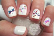 dragonfly nail art decals