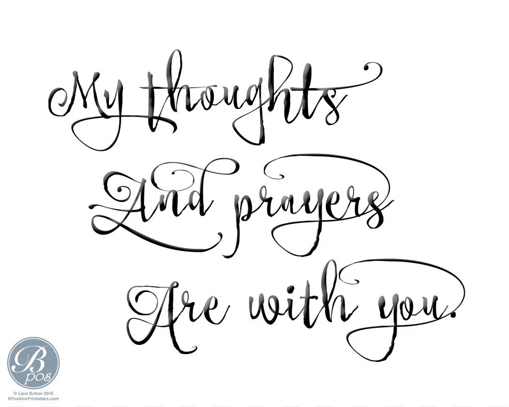 My thoughts and prayers Card Encouragement Sympathy