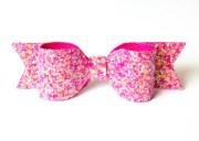 pink glitter bow bright glittery