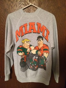 Vintage Miami Hurricanes Football