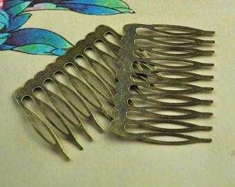 antique bronze metal b 10pcs metal hair bs 14 teeth