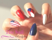 patriotic nails set of handpainted