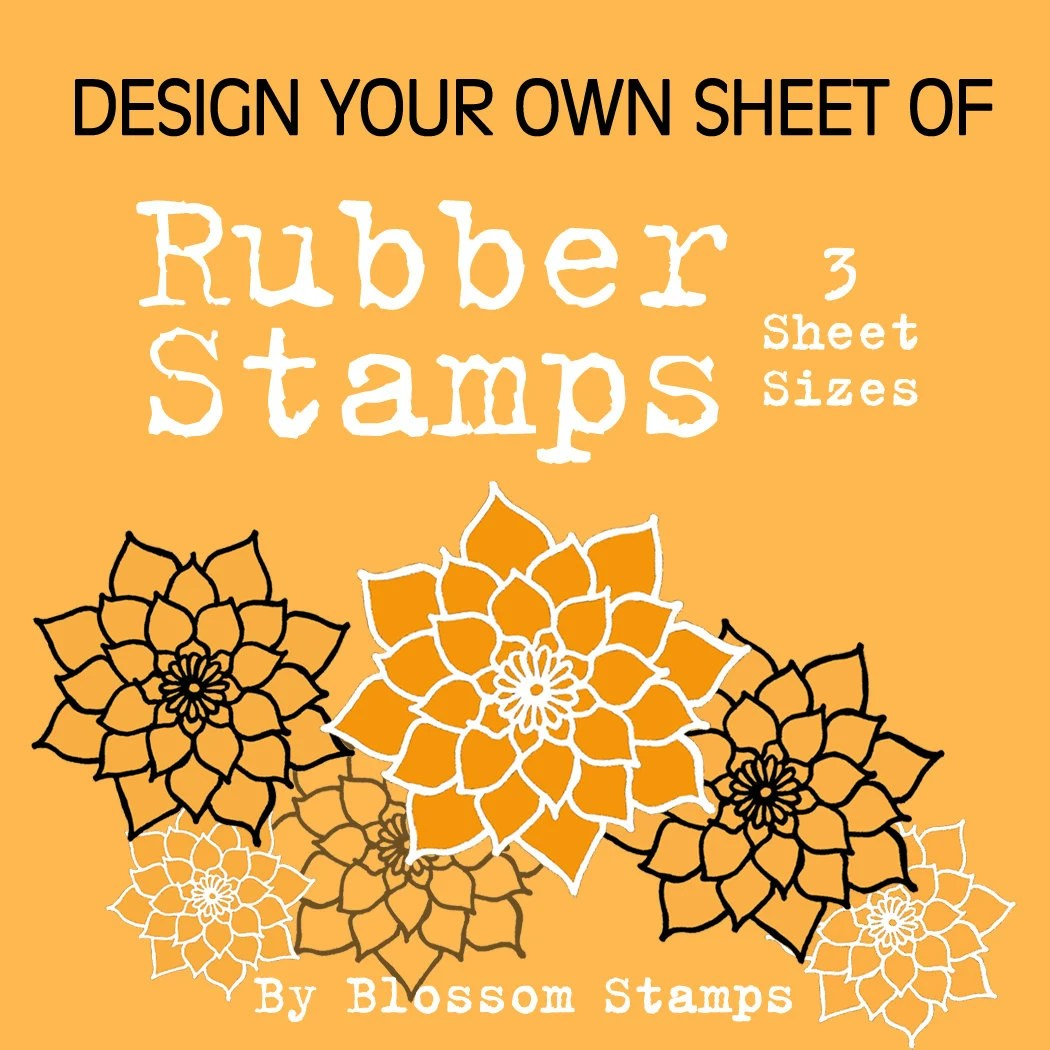 Design your Own Custom Unmounted Photopolymer Rubber Stamps