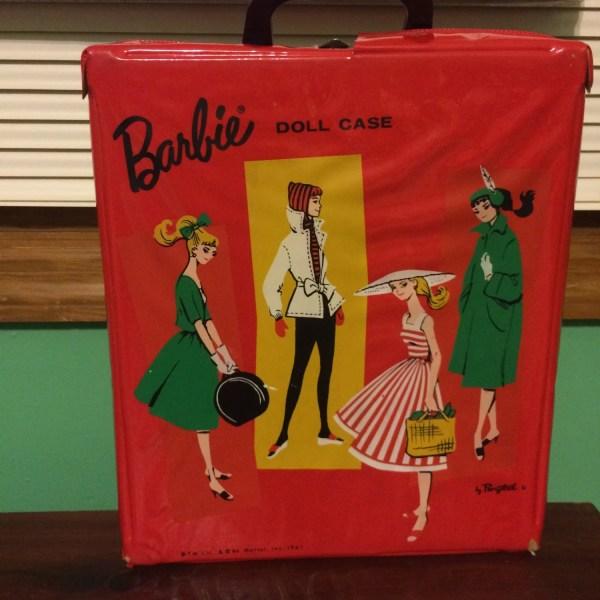 Vintage Barbie Doll Red Vinyl Carrying Case