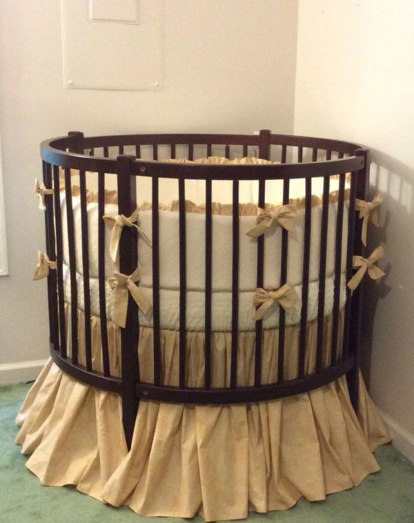 Rustic Crib Bedding Set Tan And Cream Matelasse