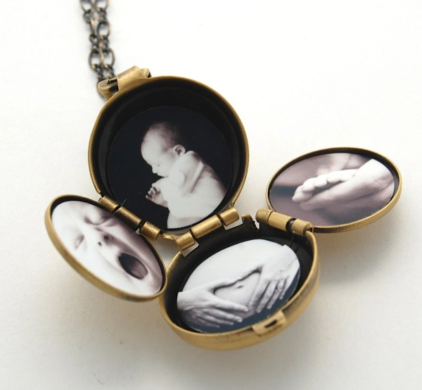 Incredible Four- Locket Necklace Family Album Lockets